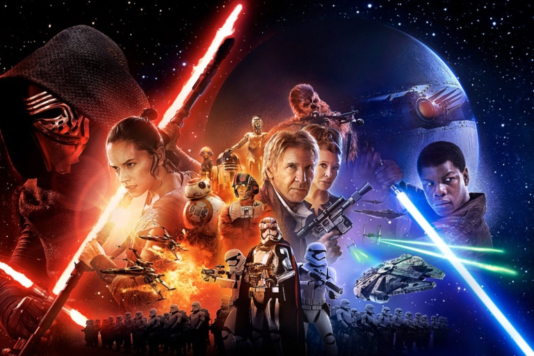 THE FORCE AWAKENS POSTER crops